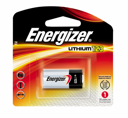 Energizer e2 Lithium123 Photo Battery 3 Volt 1 ea [039800041098]