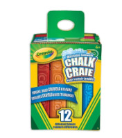 Crayola Washable Sidewalk Chalk, Assorted Colors 12 ea [063652355508]