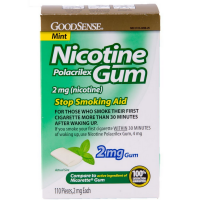 Good Sense Nicotine Polacrilex Gum, Mint, 2 mg 110 ea [301130206257]