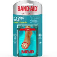 BAND-AID Brand Hydro Seal Corn Cushion Bandages, Waterproof Corn Pads, Medium, 10 ct 1 ea [381371175505]