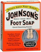 JOHNSON'S Foot Soap Powder Packets 4 Each [011509004017]