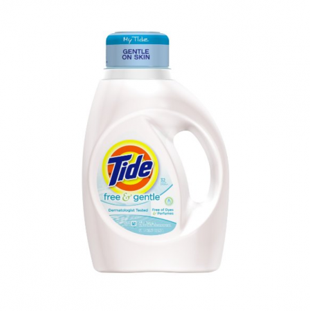 Tide 2X Ultra Laundry Detergent Free 50 oz [037000138853]