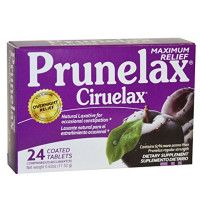Prunelax Ciruelax Maximum Felief Natural Laxative for Occasional Constipation, Tablets 24 ea [818951000457]