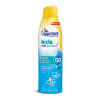 Coppertone Kids Sunscreen Wet Protect Continuous Spray SPF 50, 5.5 oz [041100006691]