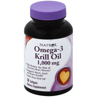Natrol Odorless Omega-3 Krill Oil Softgels 30 ea [047469071028]