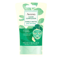 Aveeno Clear Complexion Pure Matte Peel Off Face Mask with Alpha Hydroxy Acids, Soy & Pomegranate for Clearer-Looking Skin, Non-Comedogenic, 0.35  oz [381371181742]