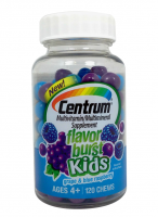 Centrum Kids Flavor Burst Chews, Grape & Blue Raspberry, 120 Chews [300054901927]