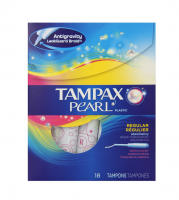 Tampax Pearl Plastic, Regular Absorbency, Fresh Scent Tampons 18 ea [073010006096]