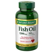 Nature's Bounty Fish Oil, 1200mg, Softgels 200 ea [074312131028]