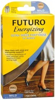 FUTURO Energizing Ultra Sheer Pantyhose For Women French Cut Lace Panty Mild Small Nude 1 Pair [382250065825]