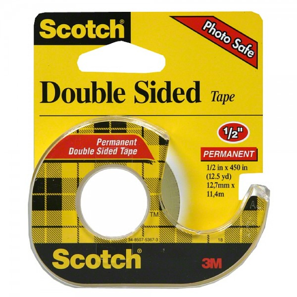 scotch double sided tape with dispenser 1 2 x 450 1 ea pharmapacks. Black Bedroom Furniture Sets. Home Design Ideas