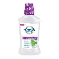 Tom's of Maine Whole Care Mouthwash, Fresh Mint, 16 oz [077326457832]