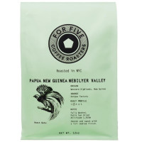 For Five Papua New Guinea Whole Bean 12 oz [853473008116]