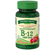 Nature's Truth Vitamin B-12 1000 mcg Fast Dissolve Tablets, Natural Berry Flavor 120 ea [840093101112]