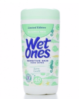 WET ONES Sensitive Skin Moist Wipes Extra Gentle 40 Each [076828046704]