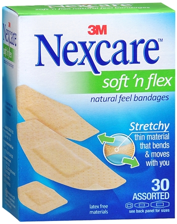 Nexcare Comfort Fabric Bandages Assorted 30 Each [051131995260]