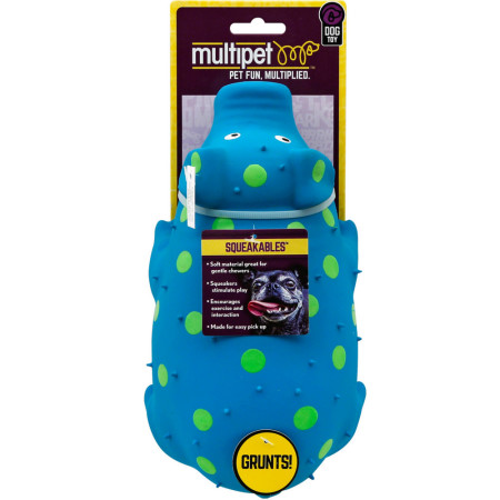 "Multipet International 9""  Polka Dot Pig Dog Toy, Assorted Colors 1 ea [784369610062]"