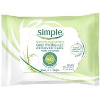 Simple Sensitive Skin Experts Eye Make-Up Remover Pads 30 ea [087300272221]