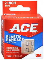 ACE Elastic Bandage (hook closure) 2 Inches 1 Each [051131208124]