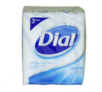 Dial Antibacterial Deodorant Bar Soap, 4 oz bars, White, 3 ea [017000024103]