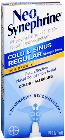 Neo-Synephrine Nasal Decongestant Spray Regular Strength 0.50 oz [300241353010]