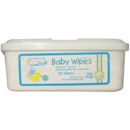 Baby Wipes Light Scent, Tub 80 ea [616784131290]