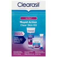 Clearasil Ultra Rapid Action Clear Skin Kit (3 items in kit) 1 ct. [839977006452]
