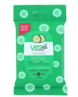 Yes to Cucumbers Soothing Hypoallergenic Facial Towelettes, Travel Size 10 ea [813866013868]