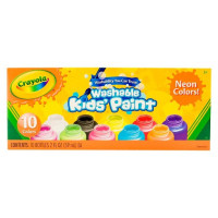 Crayola Washable Kids' Paint Neon Colors 10 ea 2 oz [071662023904]