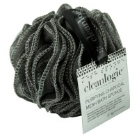 Clean Logic Purifying Charcoal Mesh Bath Sponge 1 ea [813606020675]