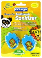Dr. Tung's Kid`s Snap-On Toothbrush Sanitizer 2 ea [019373952557]