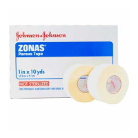 "Athletic Tape Zonas Porous Cotton 1"" X 10 Yard White NonSterile 1 ea [381370051046]"