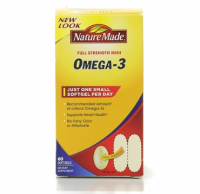 Nature Made Full Strength Mini Omega-3 Softgels 60 ea [031604028671]