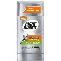 Right Guard Xtreme Defense 5 Anti-Perspirant & Deodorant, Fresh Blast 2.60 oz [017000068084]