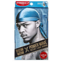 Kiss Red Power Wave Velvet Luxe Durag, Blue 1 ea [731509778571]