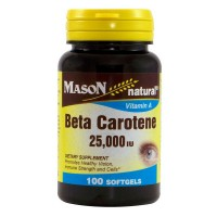 Mason Natural Beta Carotene 25,000 IU Softgels 100 ea [311845122810]