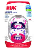 NUK Orthodontic Pacifier, 0-6 Months, 1 ea [885131628091]