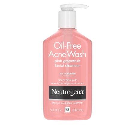 Neutrogena Oil-Free Salicylic Acid Pink Grapefruit Pore Cleansing Acne Wash and Facial Cleanser with Vitamin C 9.1 oz [070501153697]