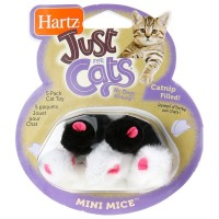 Hartz Just For Cats, Mini Mice Toy 5 ea [032700959869]