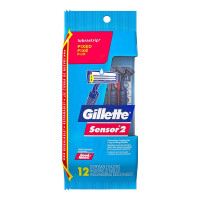 Gillette Sensor 2, Fixed Lubrastrip, 12 ea [047400126022]