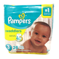 Pampers Swaddlers Diapers Size 3,  26 ea [037000748977]