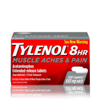 TYLENOL 8 Hour Muscle Aches & Pain Caplets 650 mg 100 ea [300450297211]
