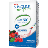 SLIMQUICK Pure Weight Loss Drink Mix Designed for Women, Mixed Berries 26 ea [811568003439]