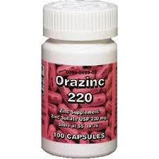 Orazinc 220 Mg Capsules For Healthy Growth Of Body Tissues 100 ea [303940499027]