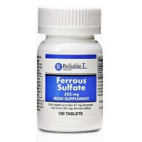 Reliable-1 Laboratories Ferrous Sulfate 325 mg, Iron supplement  100 ea [369618026018]