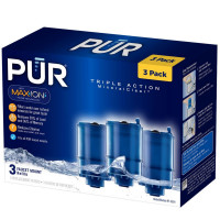 PUR Mineral Clear Faucet Mount Replacement Water Filter 3 ea [723987005454]