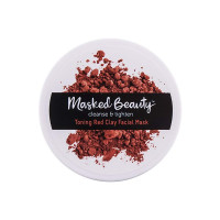 Masked Beauty Cleanse & Tighten Toning Red Clay Facial Mask, 3.38 oz [067990201022]