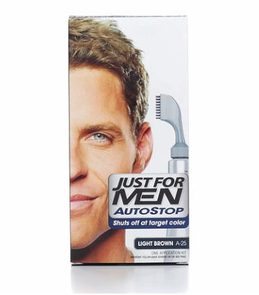 JUST FOR MEN Men AutoStop Foolproof Haircolor, Light Brown A-25 1 Kit [011509043108]