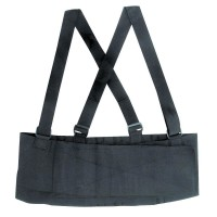 DMI Deluxe Work Belt Back Support Brace with Adjustable, Removable Shoulder Straps, Fits 40'' to 54'', Black - 1 ea [041298222316]