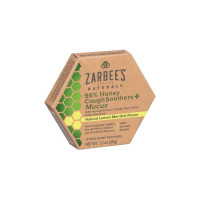 ZarBee's Naturals 96% Honey Cough Soother + Mucus Reducer Lozenges, Lemon Menthol, 14 ea  [858438005896]